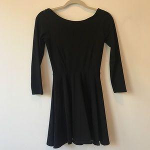 American apparel black skater dress